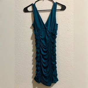 Teal Ruched Dress